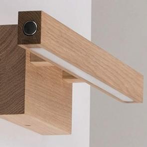 applique murale bois et led incl 1 module LED 24V 5,3W Bois chêne huilé 490 lumens SMAL