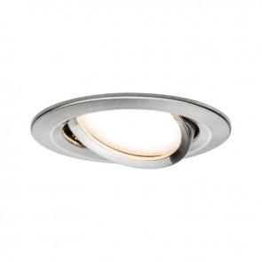 Kit de 1 spot encastré LED Coin Slim Orientable - Acier Brossé - 6.8W - 633LM  - 2700K - IP23 - dimmable - Paulmann