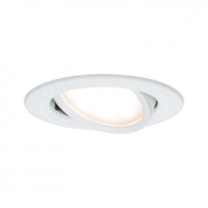 Kit de 1 spot encastré LED Coin Slim Orientable - Blanc - 6.8W - 633LM  - 2700K - IP23 - dimmable - Paulmann