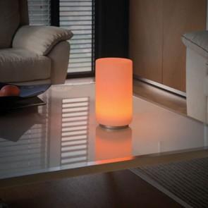 Lampe de table YAM cylindre déco verre Led RGB + télécommande