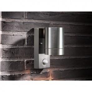 Applique murale extérieure aluminium gu10 maxi 35w avec détecteur TIN MAXI Nordlux