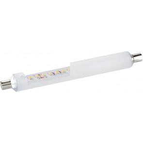 Tube lino led S19 6W 430 lumens opale blanc 2700k blanc chaud pour règlette linolite salle de bain