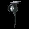 spot piquet solaire noir 30 lumens avec détecteur allumage automatique dès le nuit tombée marque MAXIMUS