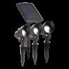 Lot de 3 spots solaires  3x15 lumens + panneau solaire marque maximus